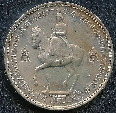 1953 Great Britain 1 Crown / 5 Shilling Coin