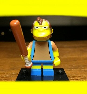LEGO THE SIMPSONS SERIES 1 NELSON MUNTZ w/ BASEBALL BAT MINIFIGURE SET# 71005