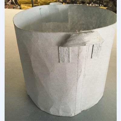 5 Pcs 5Gallon White Plant Fabric Pots Pouch Root Container Grow Bag Aeration
