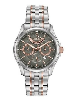 Brand New Citizen Men's Grand Classic Two Tone Stainless Steel Watch NB5006-59h
