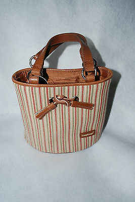 New Longaberger Homestead Striped Purse/tote - New Without Tags