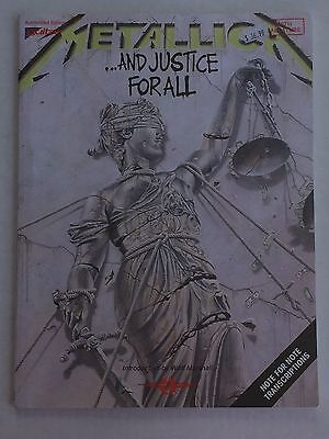 Metallica ....And Justice For All Guitar/Vocal TABLATURE Cherry Lane 1989