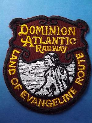 Dominion Atlantic Railway Patch Land Of Evangeline Route Train Collector