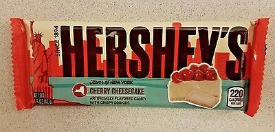 Four Hershey's Limited Edition Cherry Cheesecake Chocolate Bars 4 Count
