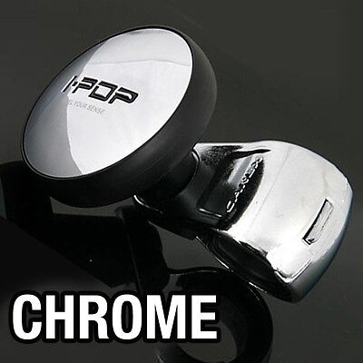 I-POP Chrome Car Steering Wheel Spinner Knob  for SSANGYONG 2013 - 2015 Rexton W