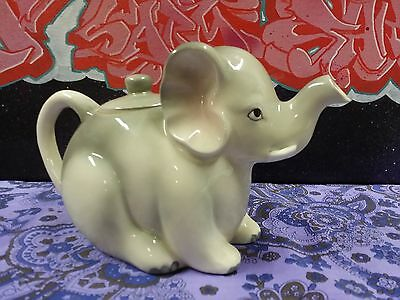 Retro Gempo Kitsch Elephant Japan Teapot Vintage Ceramic Cute Mint Animal