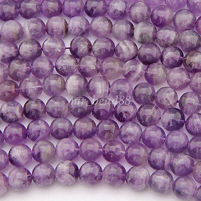 Natural Amethyst Gemstone Round Loose Beads 4mm 6mm 8mm 10mm 12mm Wholesale New