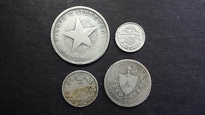 Early 1900's World Silver Coin Lot - 4 Coins