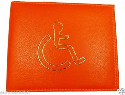 Blue Disabled  Badge Holder Cover Protector Wallet PU Leather Parking Permit ORE