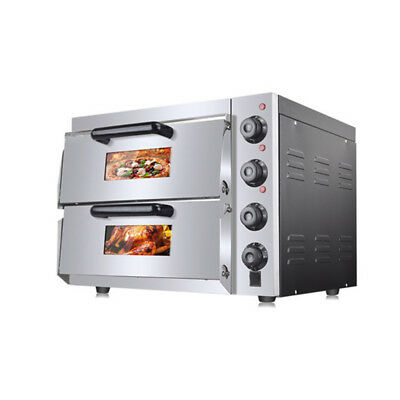 HX-2ST Double Electric Pizza Oven Cooking Machine  Warming Equipment 220V 3KW