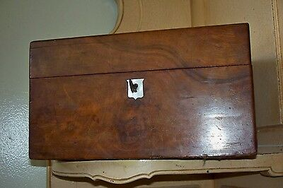 Antique 19Th Century English Victorian Wooden Walnut Jewelry Box