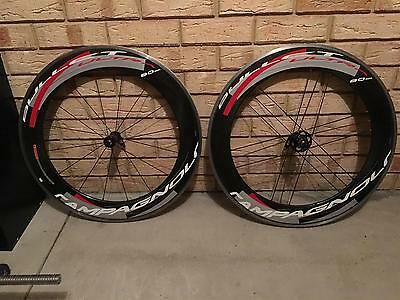 Campagnolo Bullet Ultra 80 Carbon Clincher Wheelset 9/10/11 speed