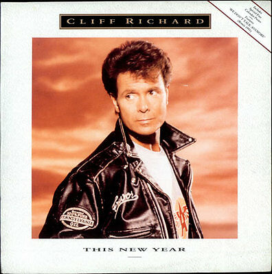 "This New Year + Poster Cliff Richard 12"" vinyl single record (Maxi) UK"