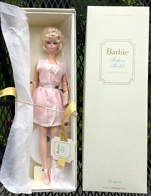 NEW In Box Ltd Edition BARBIE Doll Blonde Fashion Model Silkstone Lingerie 55498