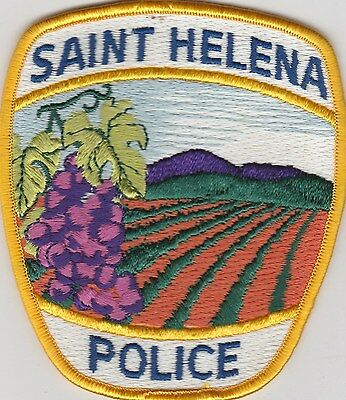Saint Helena, California Police Dept patch  CA