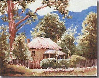 BRIGHT Vict. Homestead needlepoint tapestry by Frank Mutsaers to stitch 60x50cm
