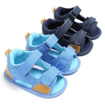 Infant Baby Boy Summer Soft Sole Shoes Sandals Newborn Prewalker Anti Slip 0-18M