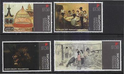 Singapore 2015 National Art Gallery Comp. Set Of 4 Stamps In Mint Mnh Unused