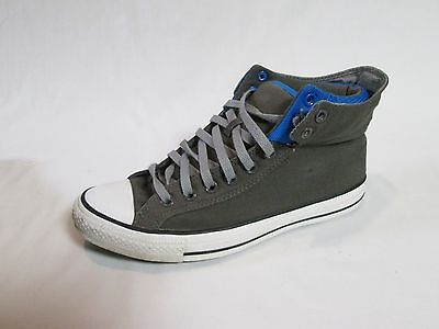 Converse All Star Men's Shoes Gray, Blue Canvas Size 10