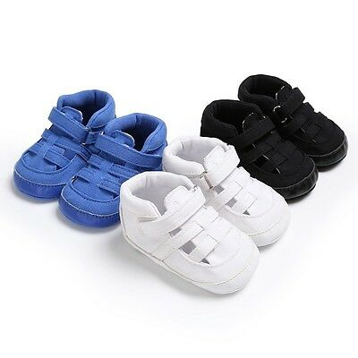 Newborn Baby Boy Summer Sandals Sneakers Soft Crib Shoes Infant Prewalkers 0-18M