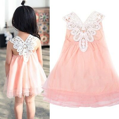 Girls Princess Flower Tutu Dress Kids Baby Birthday Party Wedding Pageant Dress