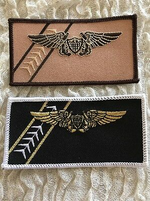 VF-103 JOLLY ROGERS 2 Namebadge Patch Lot
