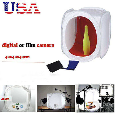 "Studio 16"" Photography Tent Backdrop Carrying Case Cube Box shooting 40cm OY"
