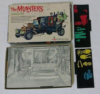 1965 Colorforms The Munsters Cartoon Kit #270 ROUGH BOX & MISSING PIECES RARE