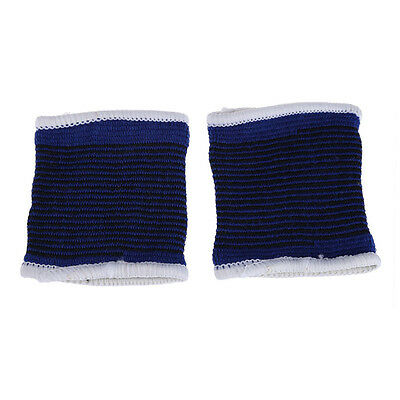 2 x Elastic Sport Sweatbands Wrist Sweat Bands Fitness GYM Wristband Band