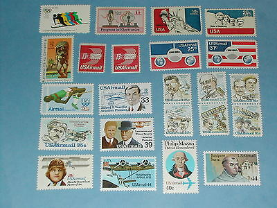 Lot of 33 Air Mail Stamps from 1972-1990 - MNH - Below Face Value