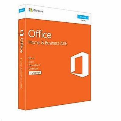 Microsoft Office Home & Business 2016, 1 PC, English -Full Version Retail boxed