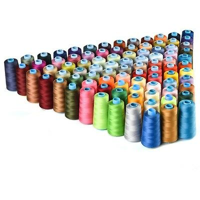 30 Spools Mixed Colors 100% Polyester Sewing Quilting Threads All Purpose DIY US