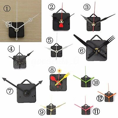DIY Silent Quartz Clock Movement Mechanism Hands Wall Repair Tool Parts Kit Set