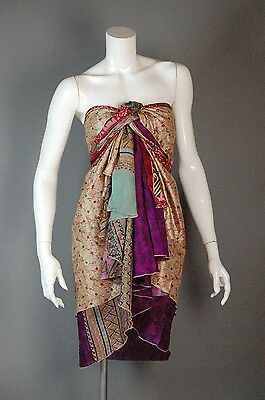 PLUS SIZE Vintage Silk 32″ Wrap Skirt Tribal Belly Dance Magic Dress 1X