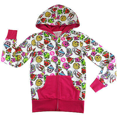 kids girls SHOPKINS zipup jacket hoodie tracksuit outfit set size 5-14 new