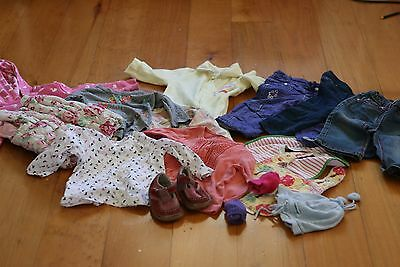 6-12 months baby girl winter clothes in excellent condition