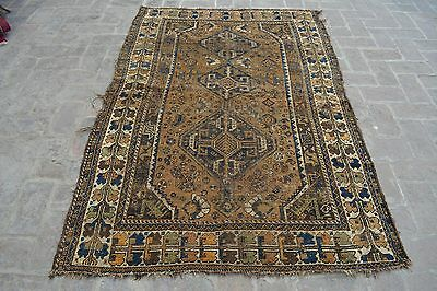 Stunning Antique Persian Shirazi rug 100% wool hand knotted area rug