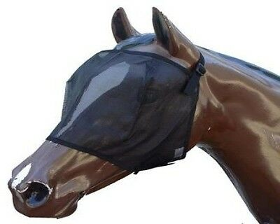 Horse Fly Mask Close Fitting Mesh In Black  (All Sizes) ~ BACK IN STOCK..! *NEW
