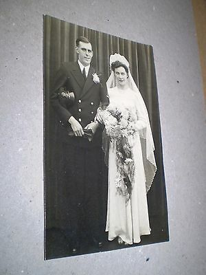 social history 1940's ww2 military wedding uniform fashion photograph pc size