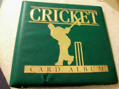 Cricket Card Collector Album With 1995/96 Acb Cricket Cards