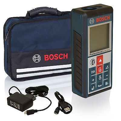 Bosch Laser Entfernungsmesser GLM 100 C Bluetooth mit Ladekabel in SOFTBAG
