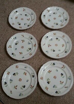 6 villeroy and boch petite fleur small side plates