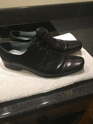 Sole Men's Black Leather Shoes Size 8