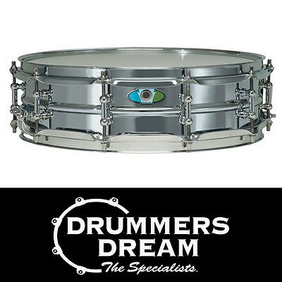 "Ludwig 14x4"" Supralite Steel Snare Drum with 2.3mm chrome triple flange hoops"