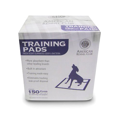 Training Pads in a Box Fresh Scent with Built In Attractant 150 Pack Dogs Pets