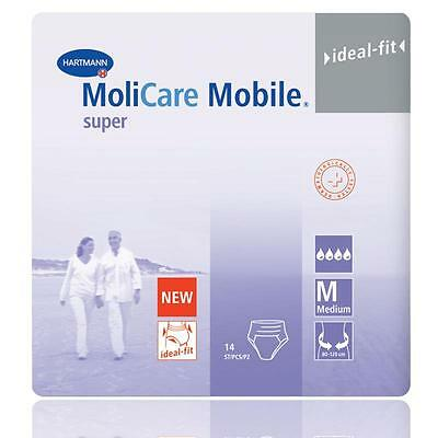 Molicare Mobile Super Medium Adult Pull up Diapers One carton (4x14 diapers)