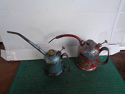 Vintage REGA oil cans x2  1/2 pint and 1 pint