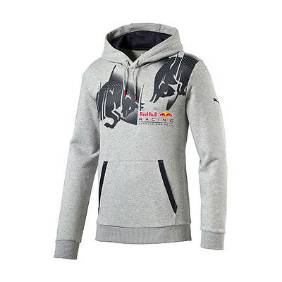 Red Bull Racing Mens Graphic Hoodie Grey 2016 Formula 1 Size L & Xl Only