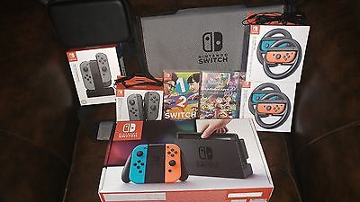 Nintendo Switch Console, games and accessories Bundle