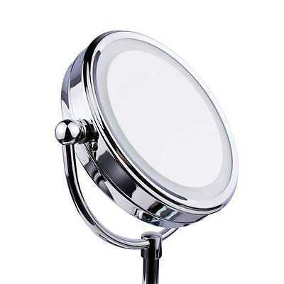 Round Magnifying Cosmetic Vanity Bathroom Make Up Mirror LED ILLUMINATED